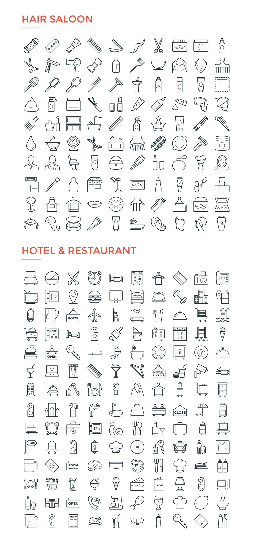 4800款独特的矢量图标合集 4800 Line Icons插图11