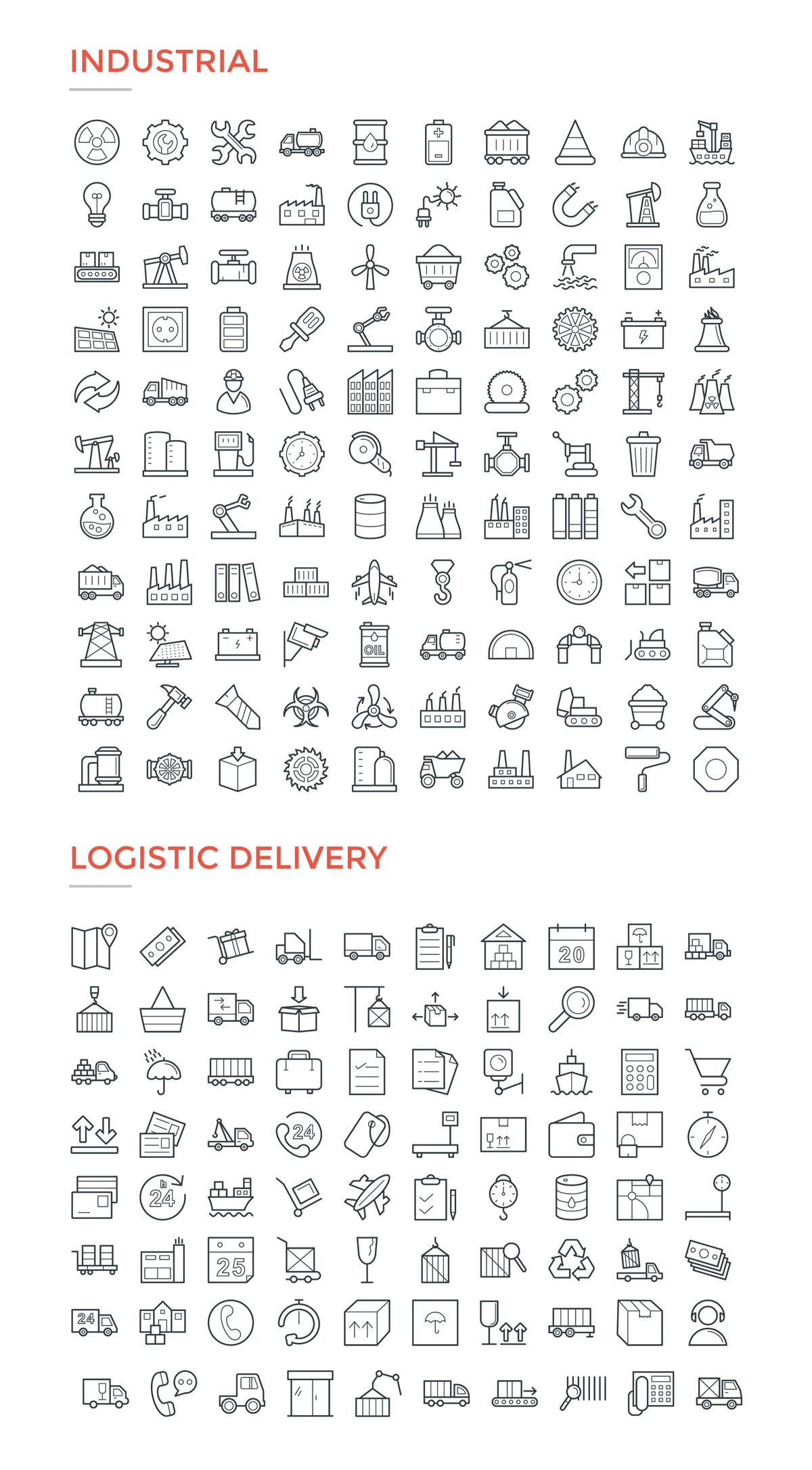 4800款独特的矢量图标合集 4800 Line Icons插图12