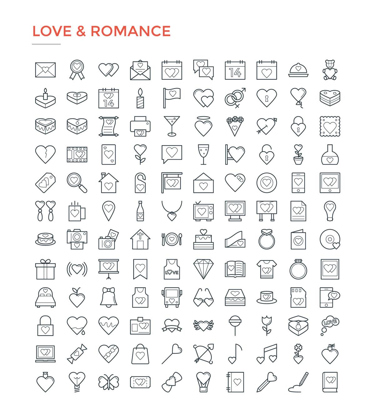 4800款独特的矢量图标合集 4800 Line Icons插图13