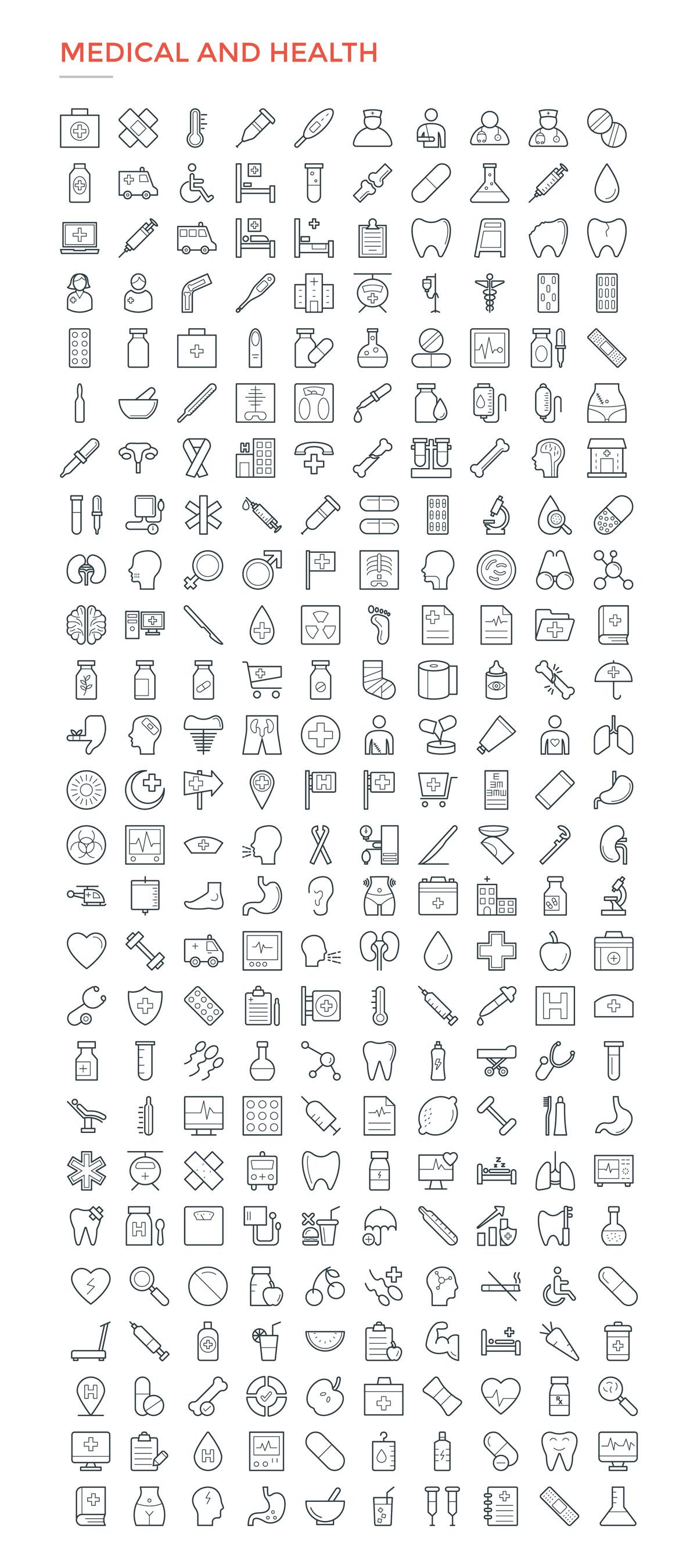 4800款独特的矢量图标合集 4800 Line Icons插图15