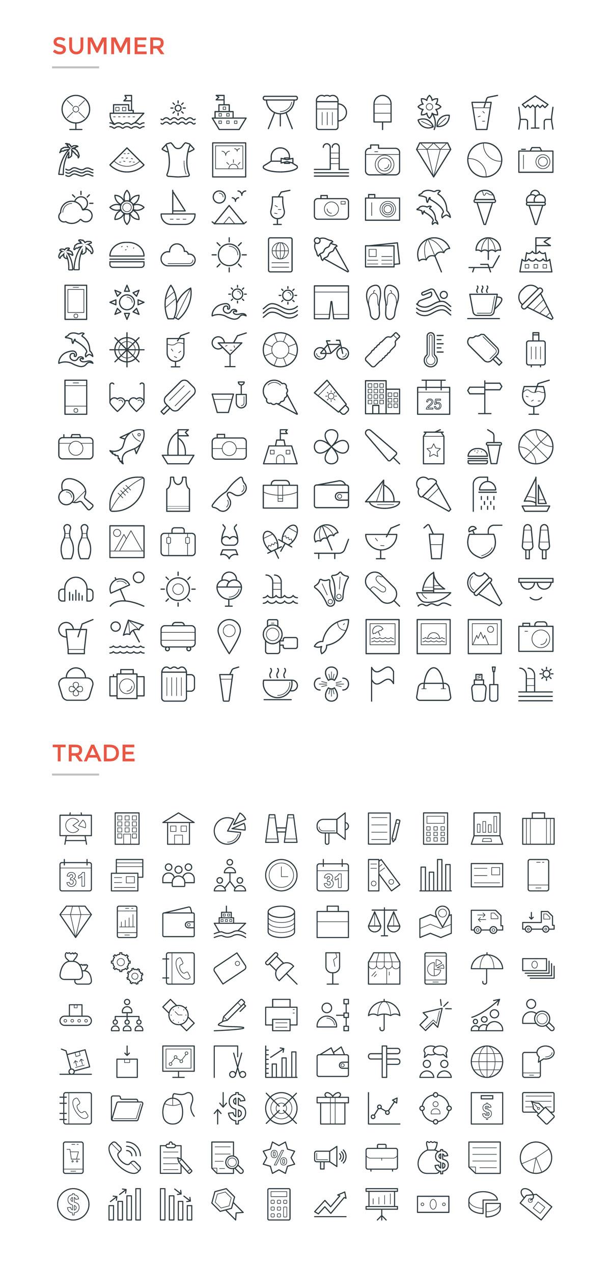 4800款独特的矢量图标合集 4800 Line Icons插图17