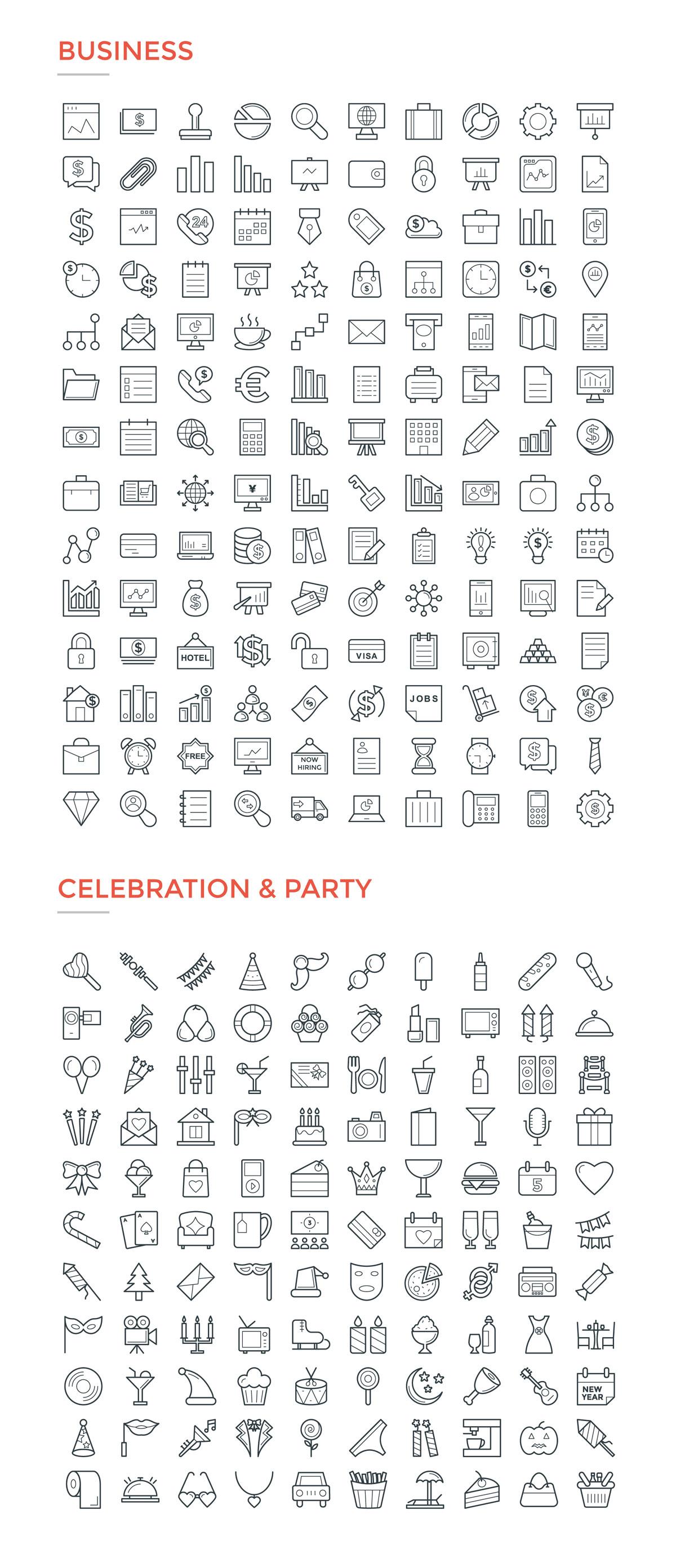 4800款独特的矢量图标合集 4800 Line Icons插图