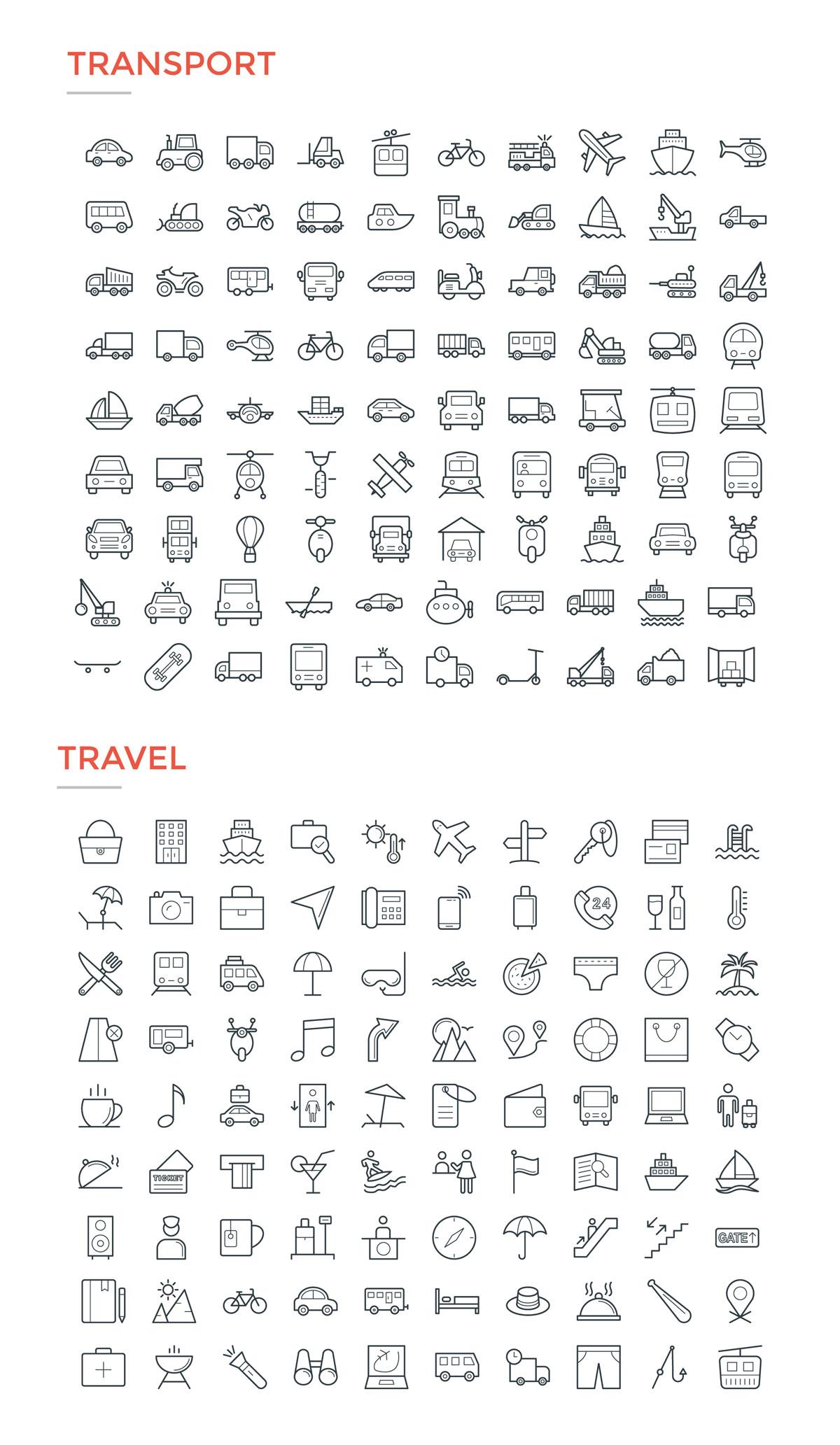 4800款独特的矢量图标合集 4800 Line Icons插图18