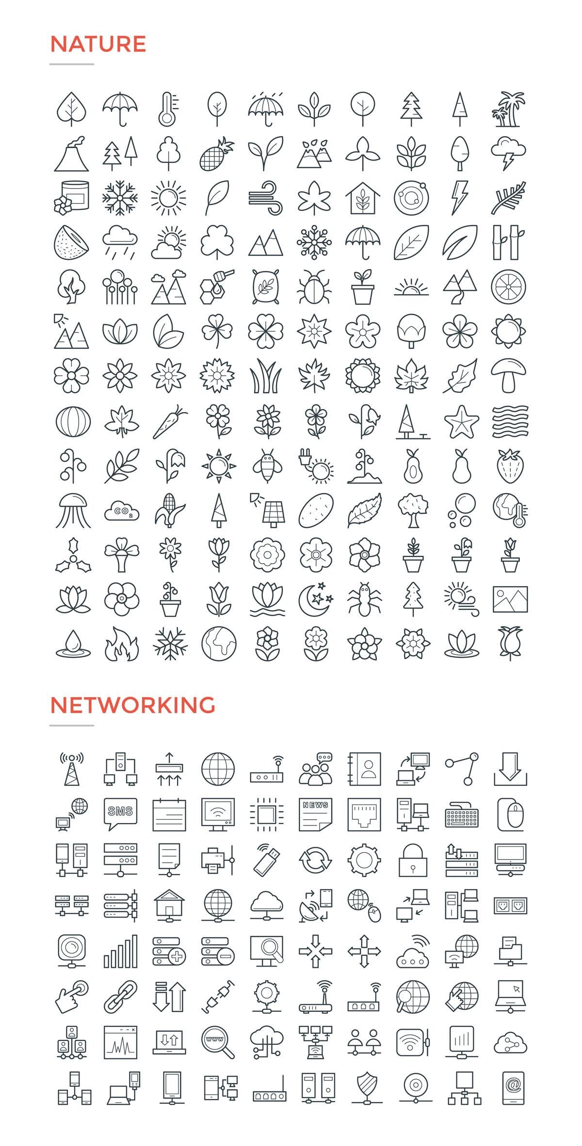 4800款独特的矢量图标合集 4800 Line Icons插图20