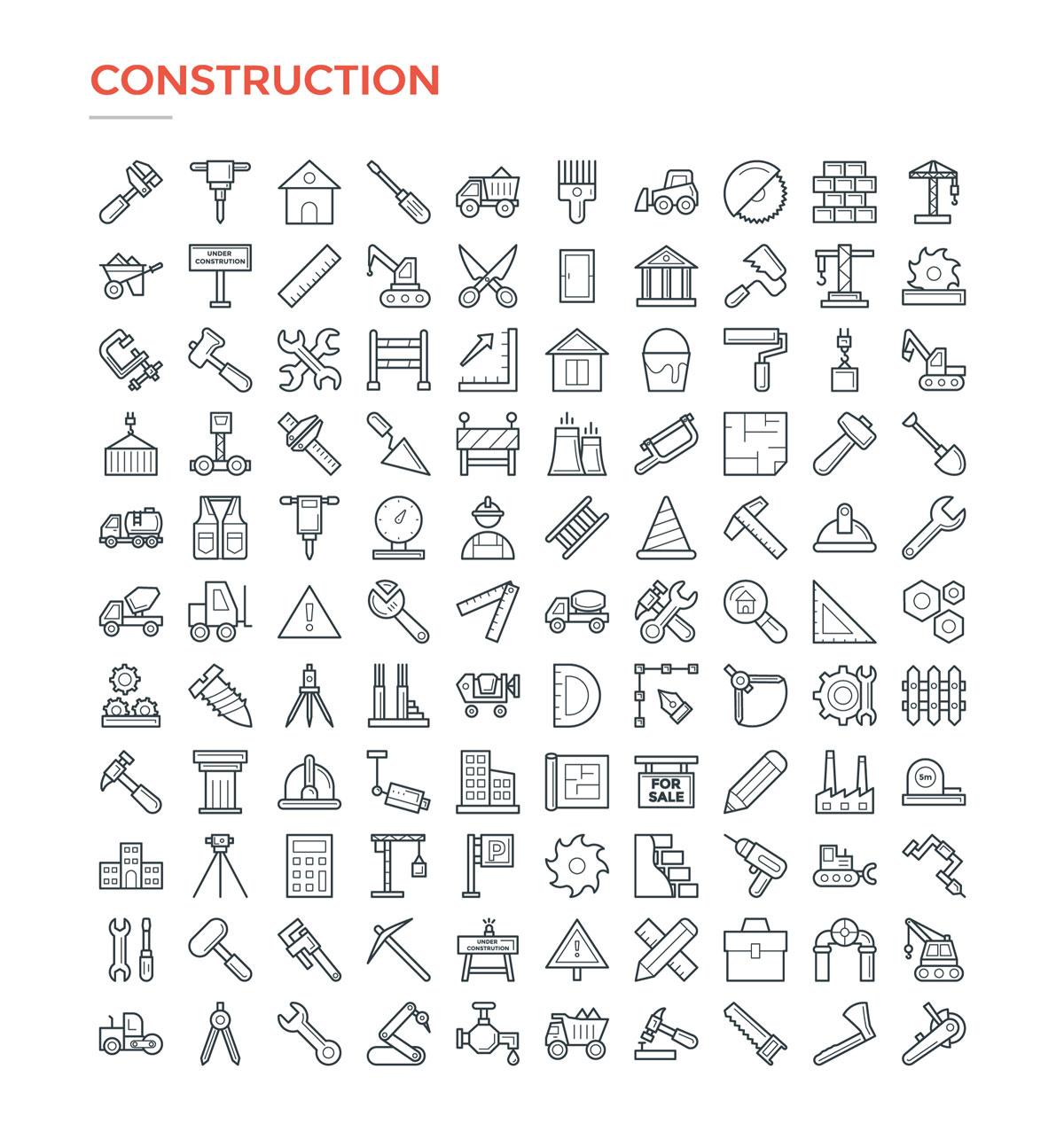 4800款独特的矢量图标合集 4800 Line Icons插图2