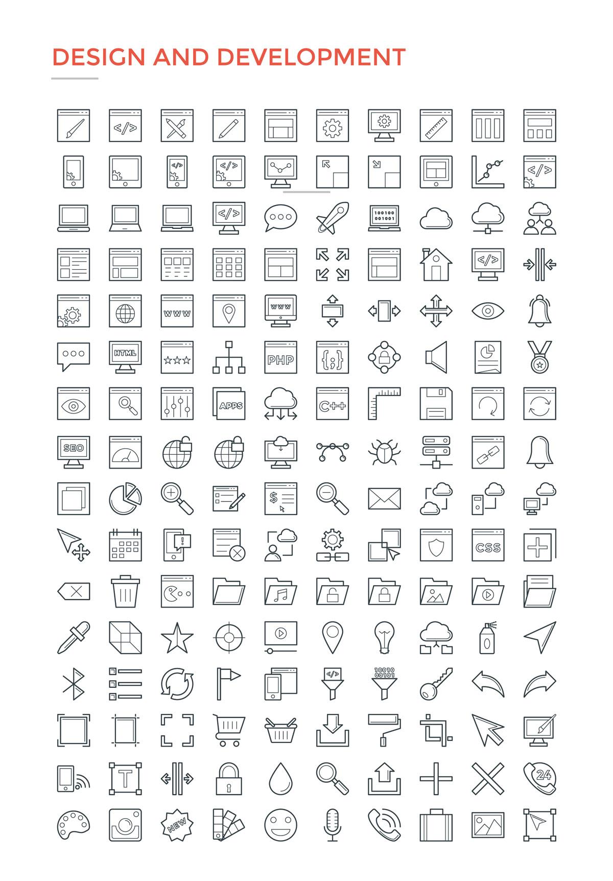 4800款独特的矢量图标合集 4800 Line Icons插图3