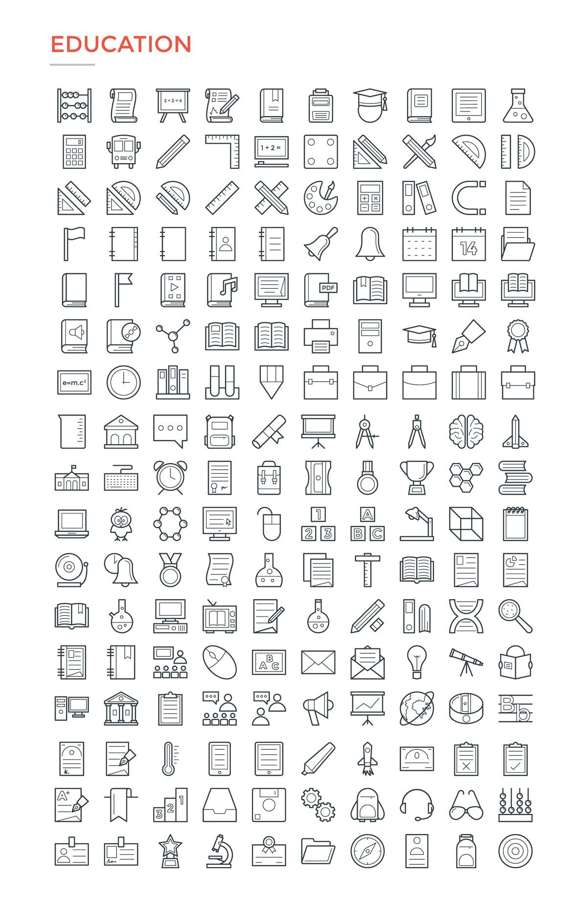 4800款独特的矢量图标合集 4800 Line Icons插图4