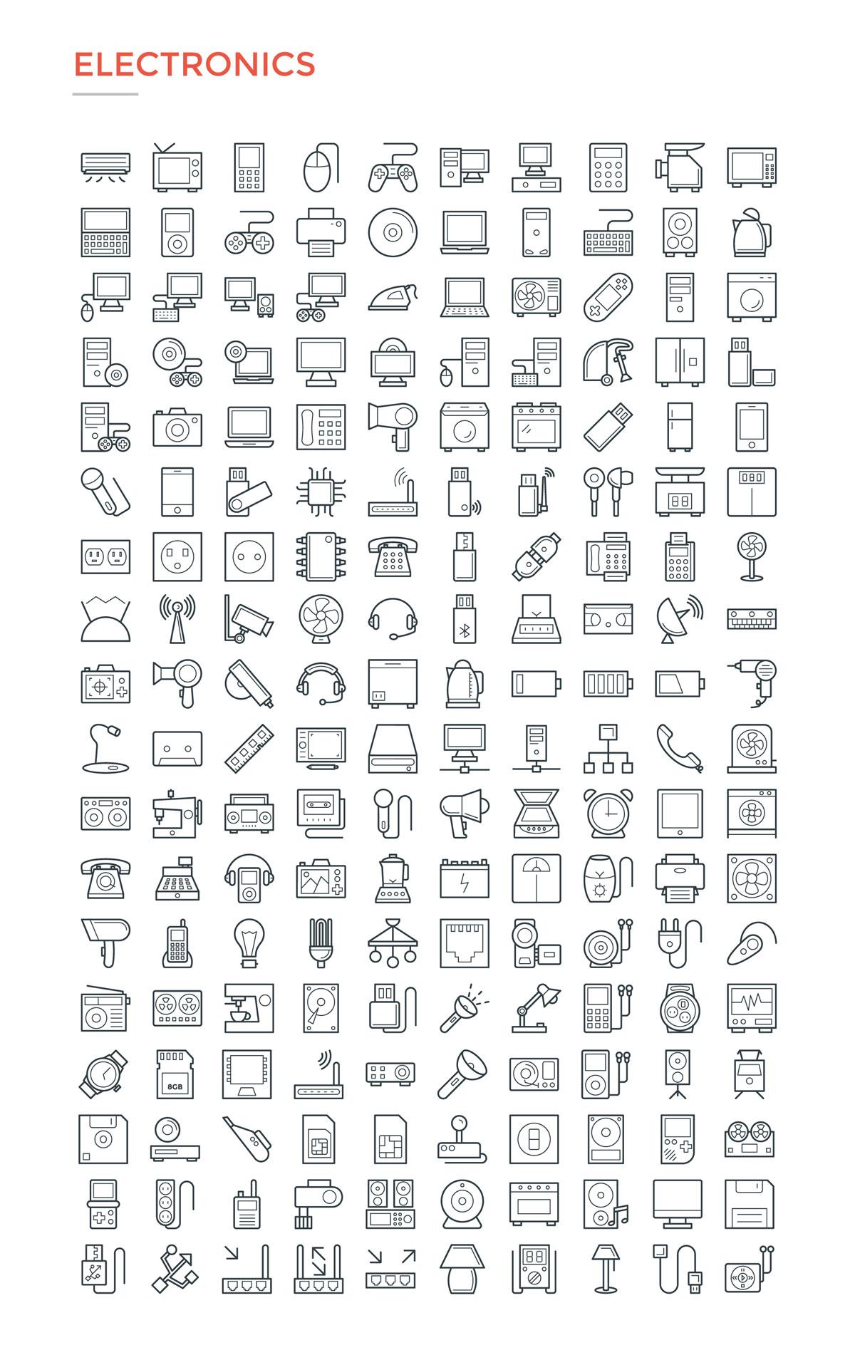 4800款独特的矢量图标合集 4800 Line Icons插图5