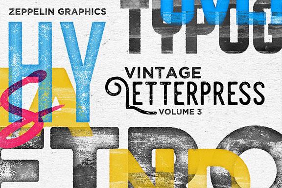 有趣的凸版纹理文字效果图层样式Vol.3 Letterpress Texture Effects Vol.3