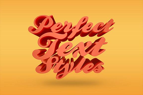 高分辨率3D文字效果图层样式 3D Text Effects