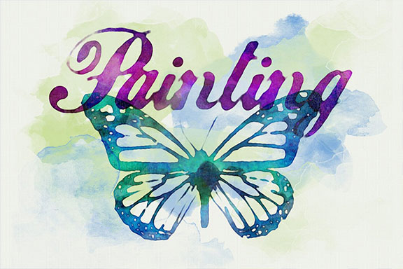 逼真的水彩文字效果图层样式 Watercolor Text Effects