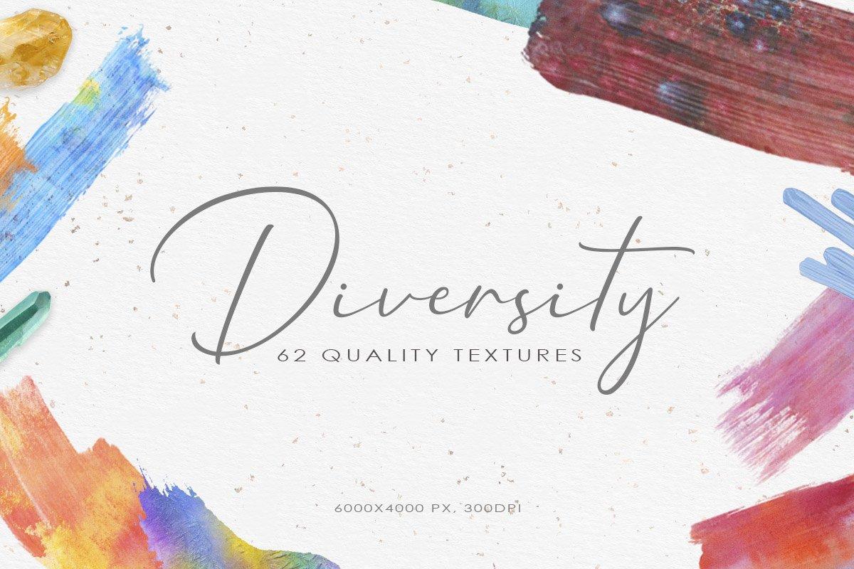 62款手绘水彩背景&水晶碎片纹理集合 62 Diversity Textures插图