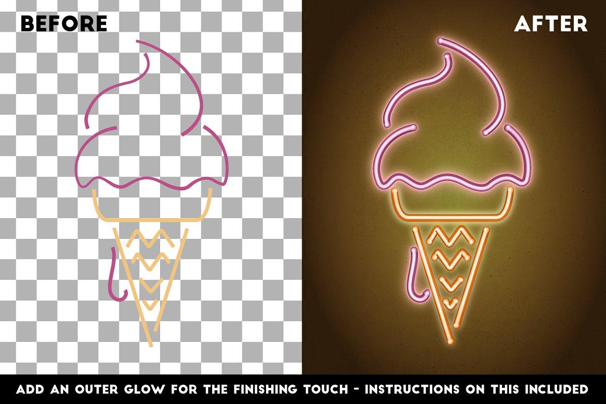 明亮的霓虹灯效果Affinity笔刷 Neon Affinity Brushes插图(1)