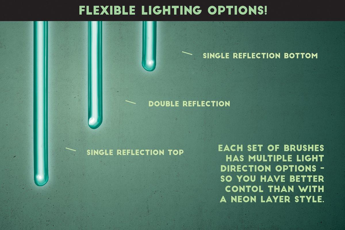 明亮的霓虹灯效果Affinity笔刷 Neon Affinity Brushes插图(4)