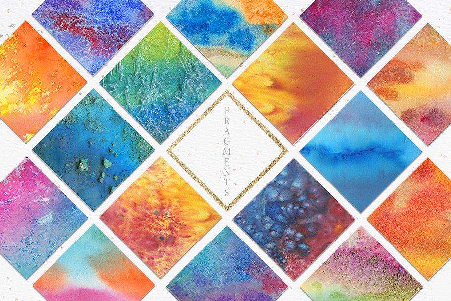 62款手绘水彩背景&水晶碎片纹理集合 62 Diversity Textures插图(1)