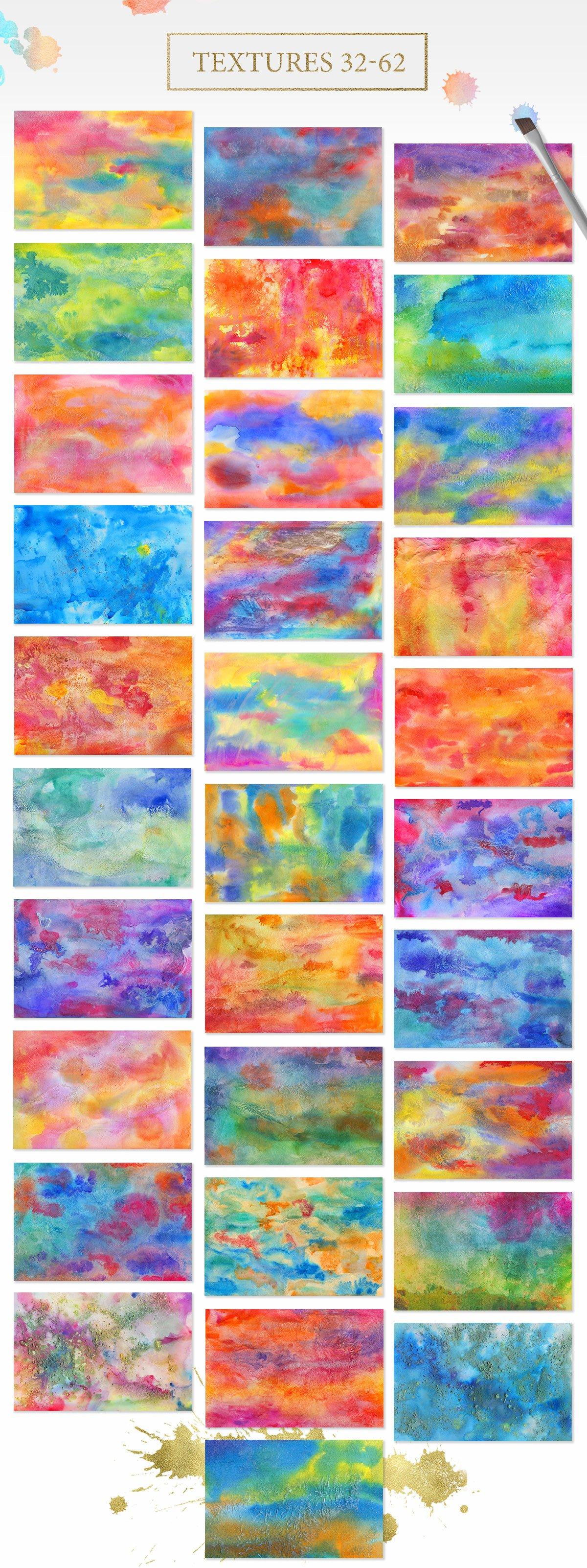 62款手绘水彩背景&水晶碎片纹理集合 62 Diversity Textures插图(4)