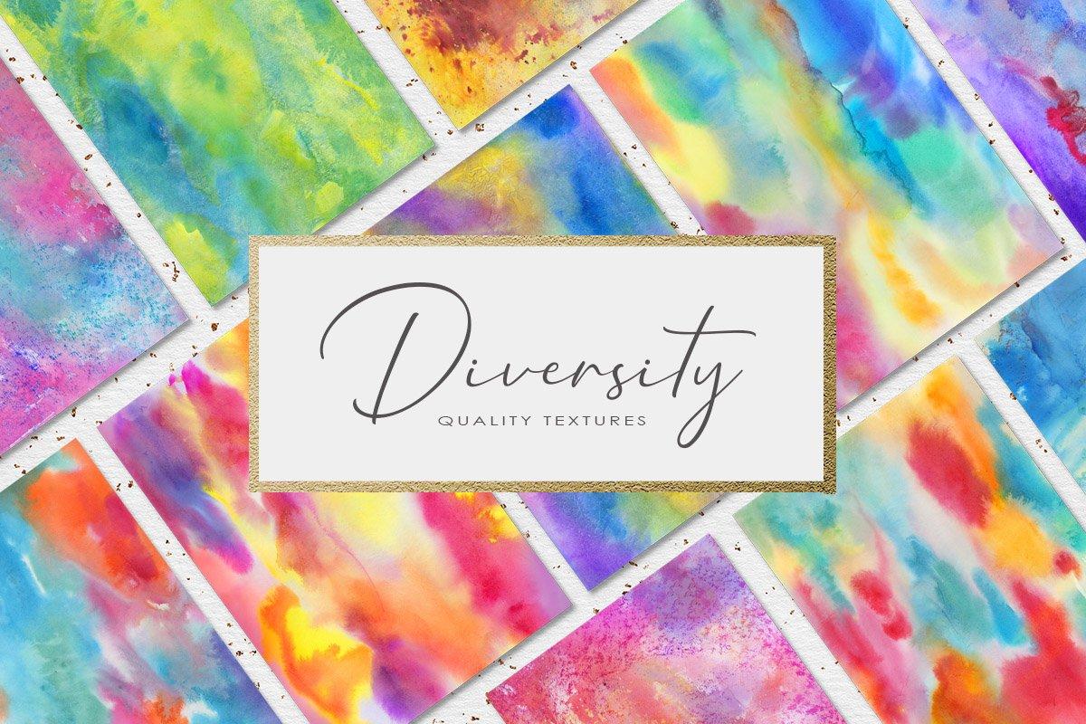 62款手绘水彩背景&水晶碎片纹理集合 62 Diversity Textures插图(6)