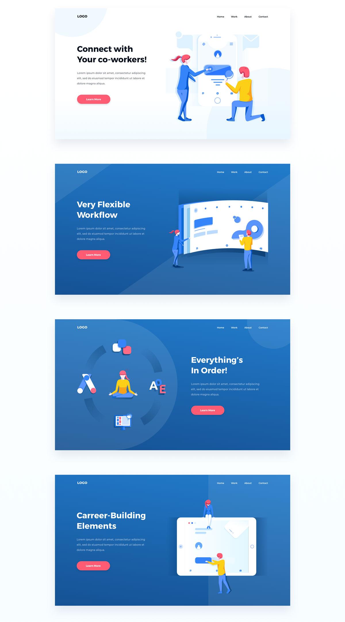 精心设计的团队合作和协作EPS矢量插图 Teamwork & Collaboration Illustrations插图(17)