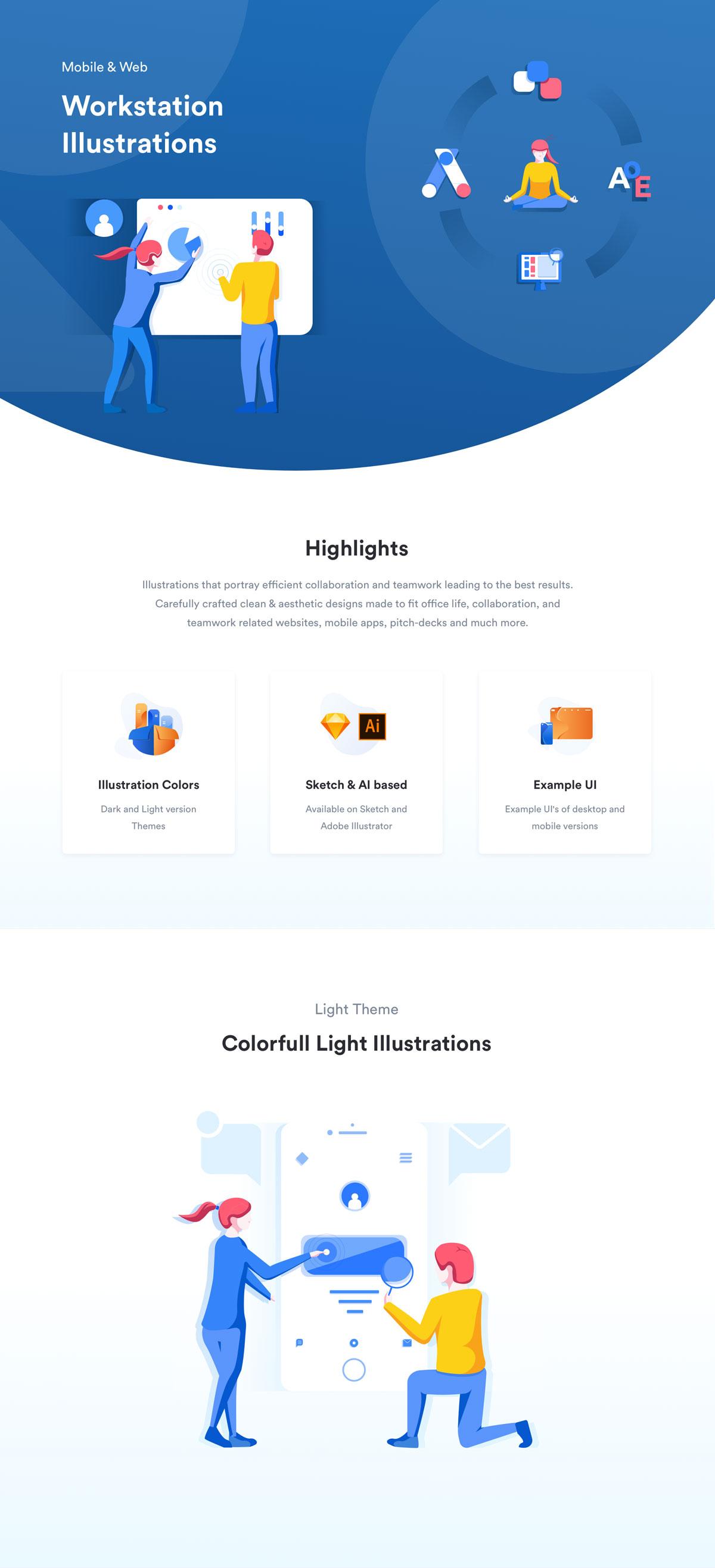 精心设计的团队合作和协作EPS矢量插图 Teamwork & Collaboration Illustrations插图(7)