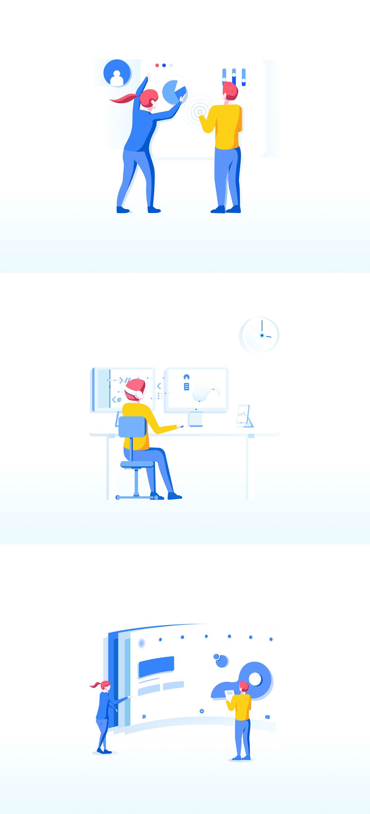 精心设计的团队合作和协作EPS矢量插图 Teamwork & Collaboration Illustrations插图(8)