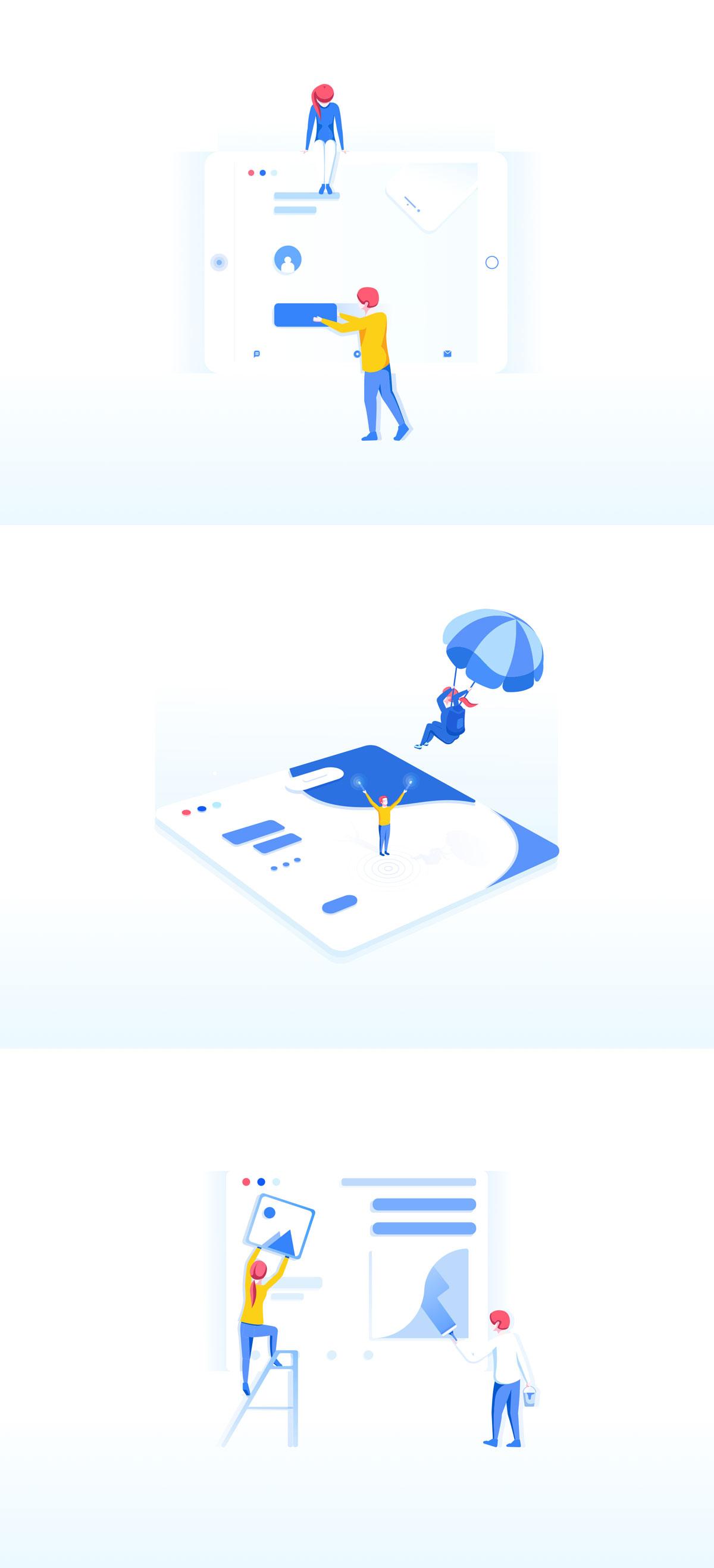 精心设计的团队合作和协作EPS矢量插图 Teamwork & Collaboration Illustrations插图(9)