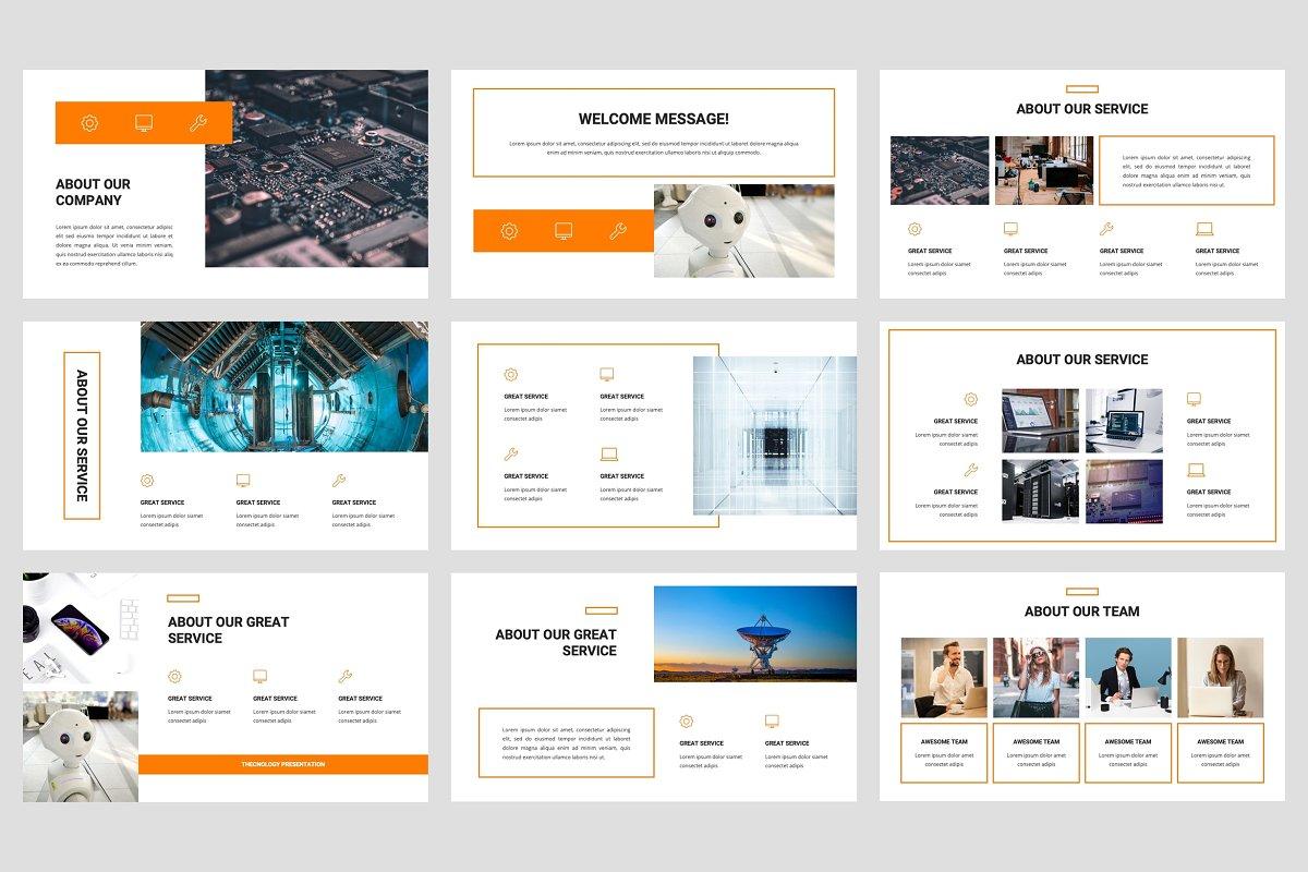 专业独特创意排版布局企业介绍个人简历PPT幻灯片模版 Thecnic – Technology PowerPoint Template插图(2)