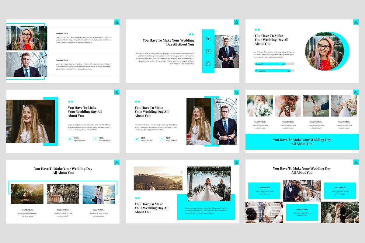 典雅婚礼策划主题的PPT幻灯片模板 Hansen – Wedding PowerPoint Template插图(3)