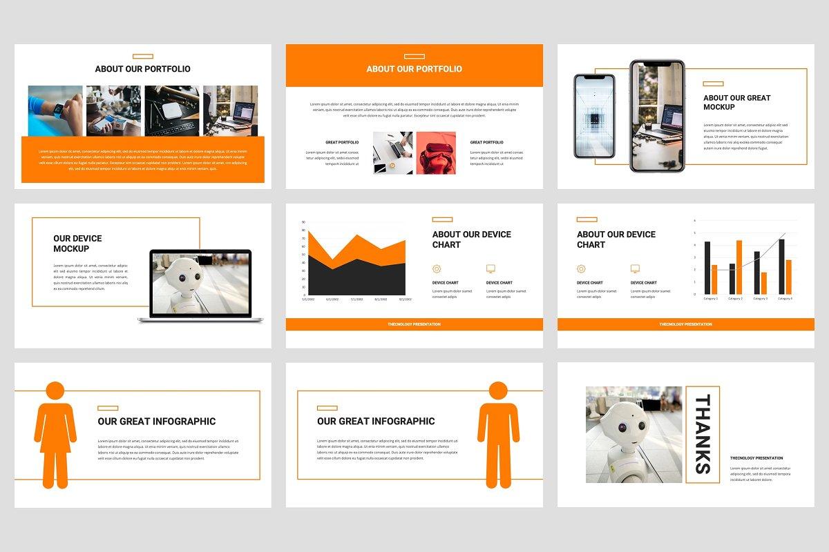 专业独特创意排版布局企业介绍个人简历PPT幻灯片模版 Thecnic – Technology PowerPoint Template插图(4)