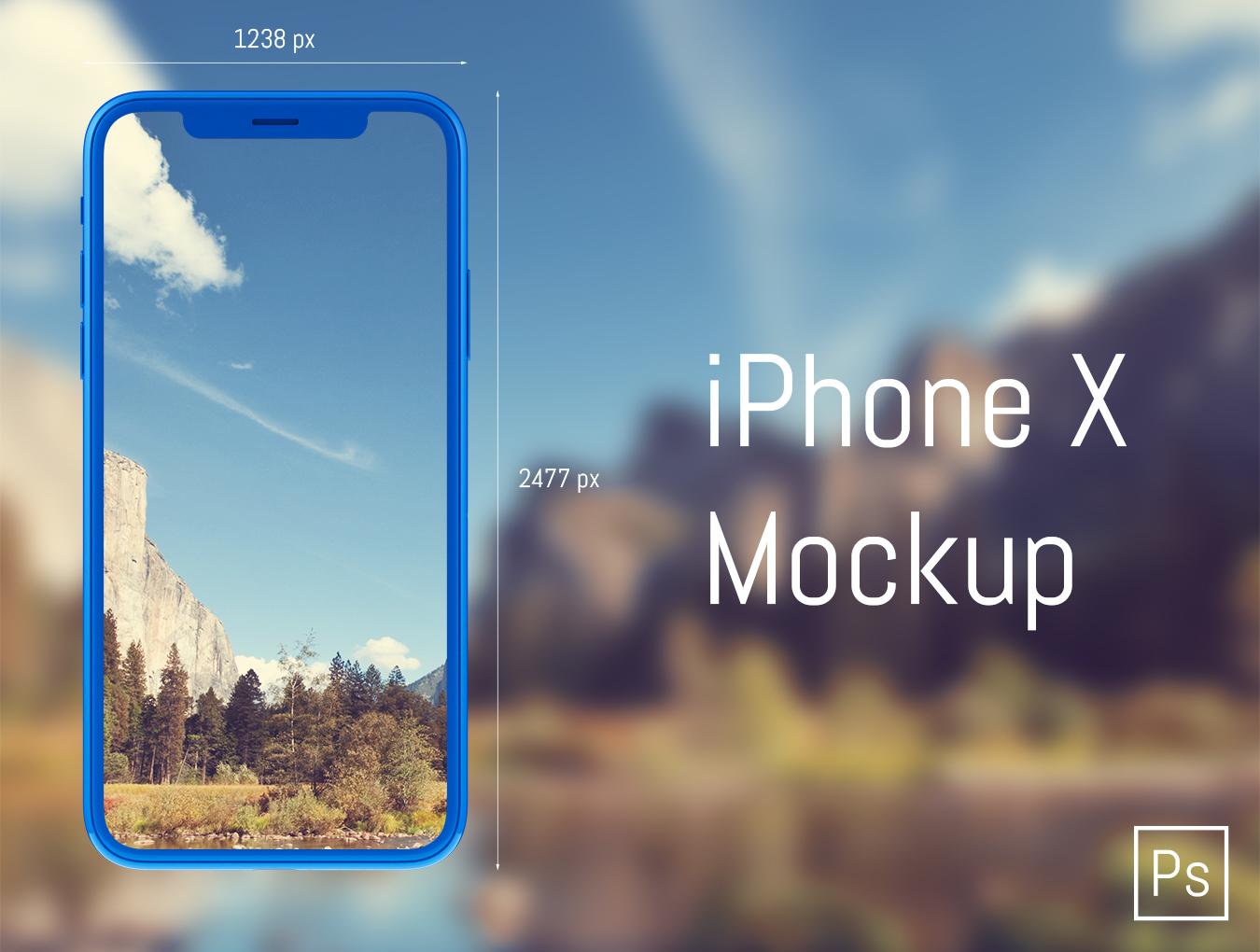高品质背景装饰iPhone X AIR样机 iPhone X AIR Mockup插图