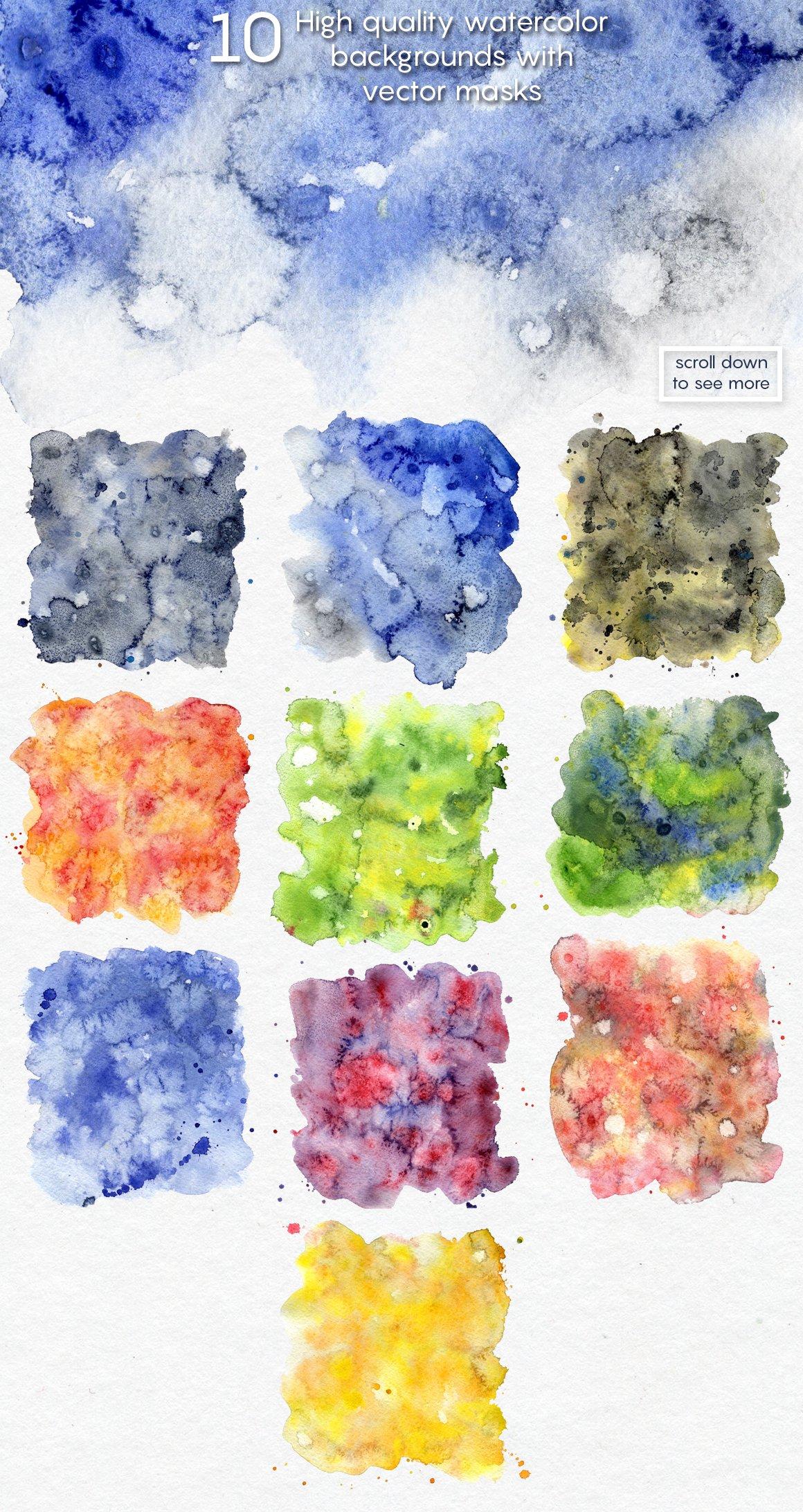 高分辨率手绘水彩水墨背景纹理合集 WATERCOLOR textures pack!插图(4)