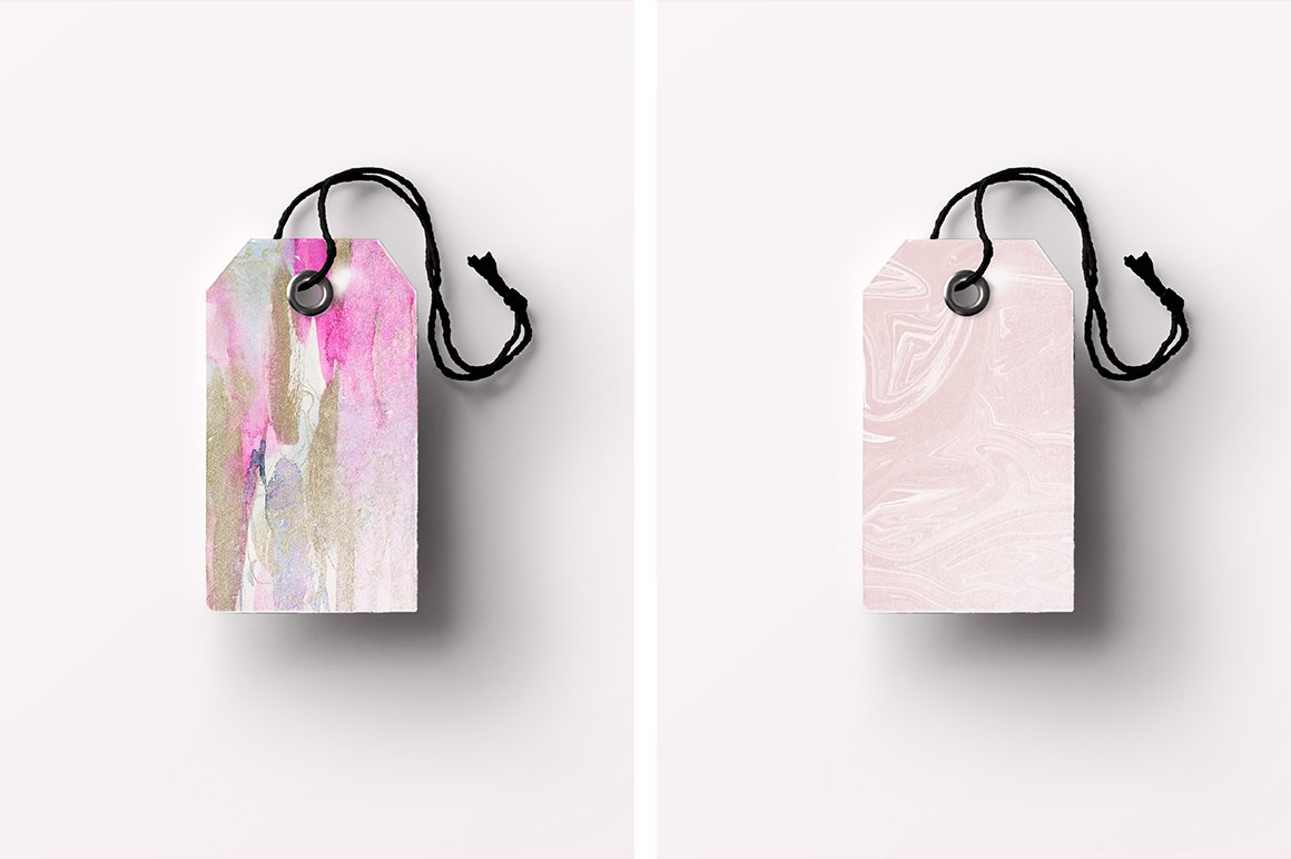 现代时尚抽象手绘水彩背景纹理 Modern Fluid & More Patterns插图(6)