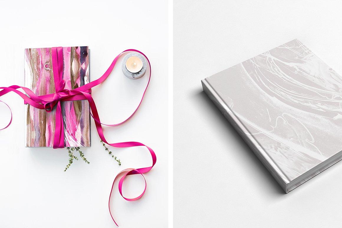 现代时尚抽象手绘水彩背景纹理 Modern Fluid & More Patterns插图(7)