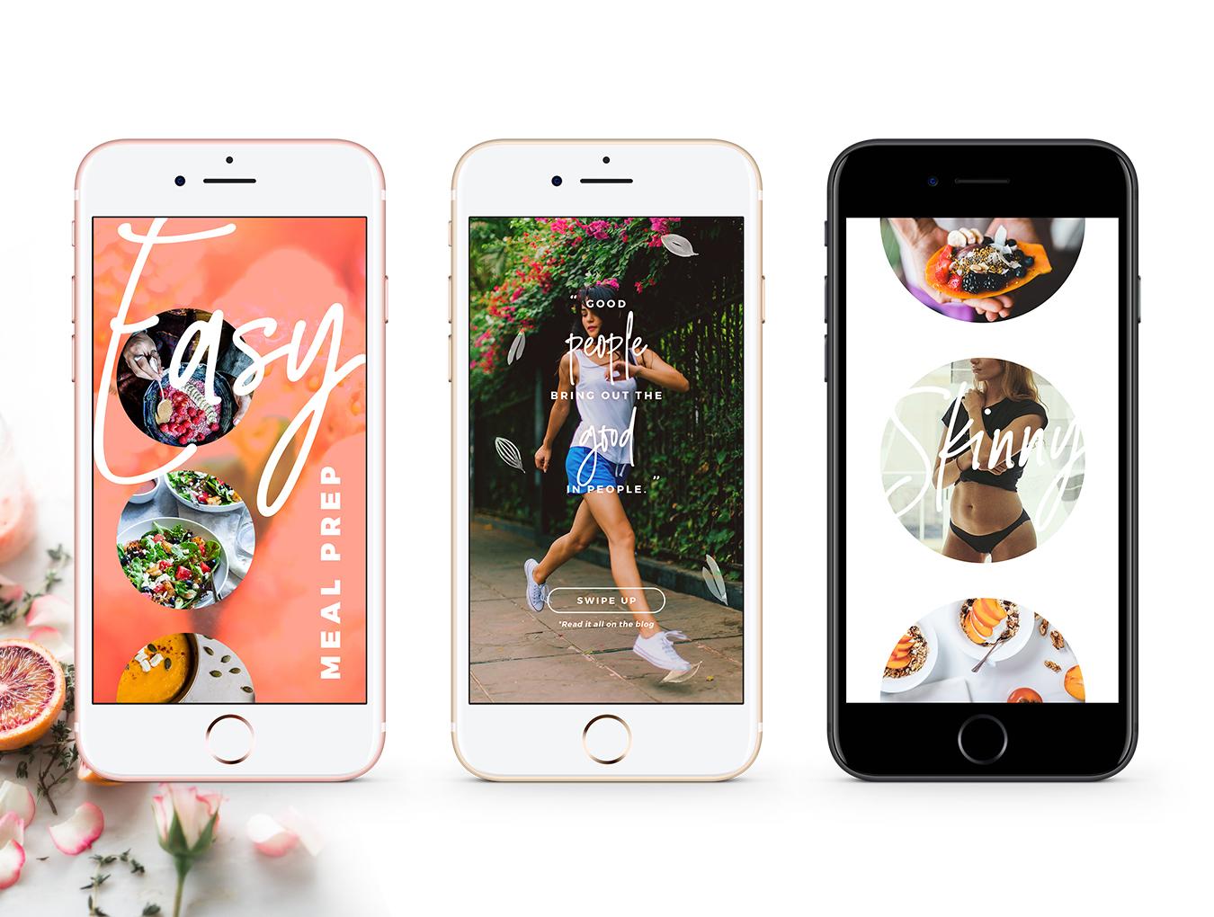 营养美食健身运动博主Instagram社交设计素材包 Detox Week Insta Stories插图(6)