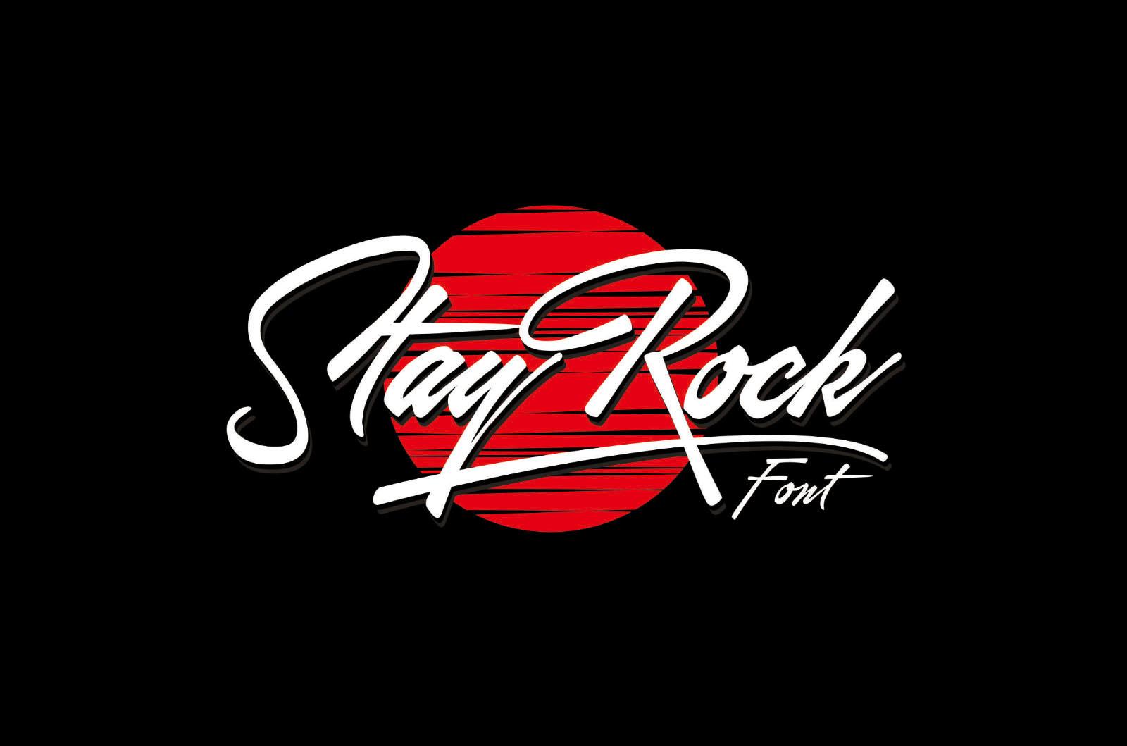 飘逸手写/书法签名斜体英文字体 StayRock Script Font插图