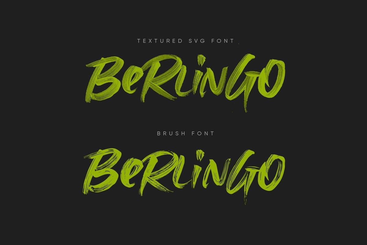 具有透明线条纹理毛笔笔刷书法英文字体 Berlingo SVG插图(10)