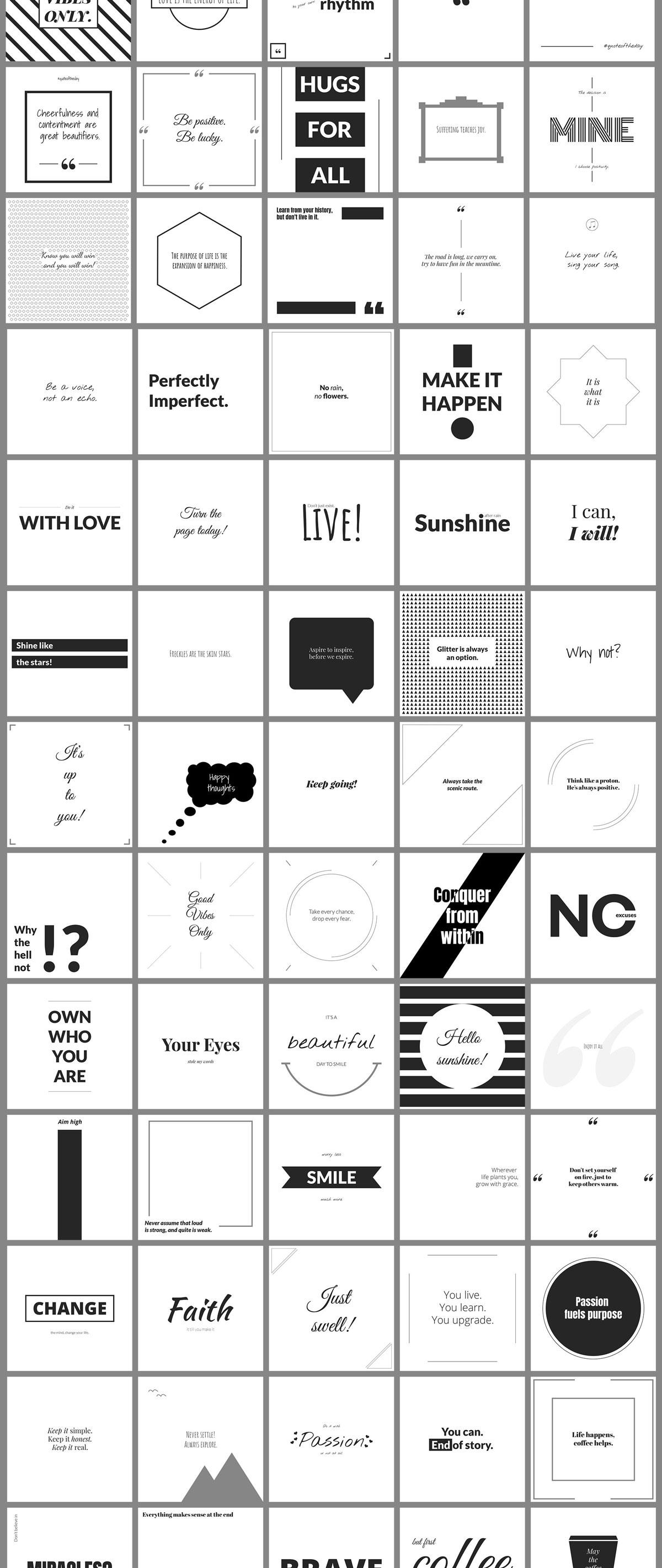 500个方形电商营销海报INS风PSD模板 500 Social Media Quotes插图(9)