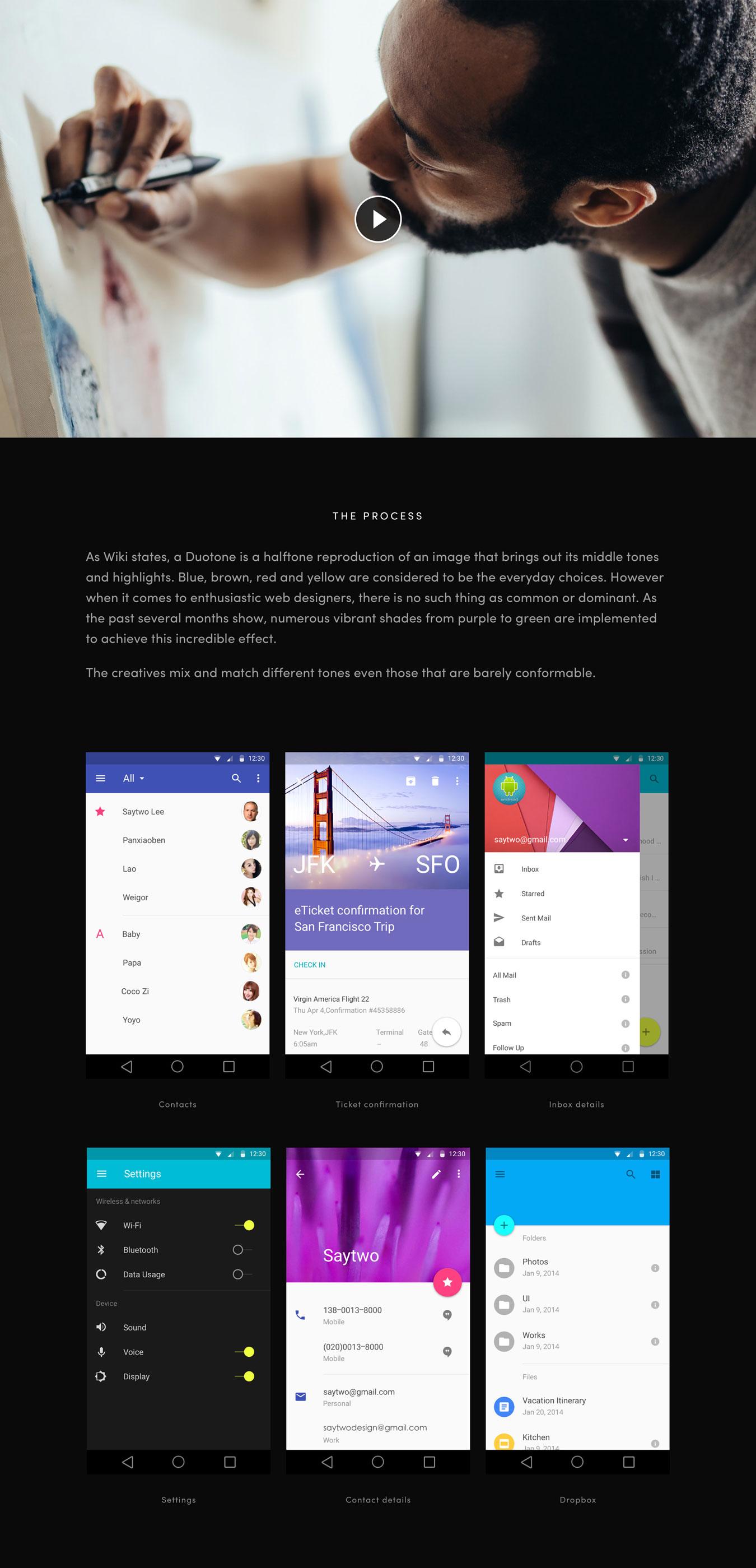 专业设计的讲座设计作品网站页面模板 Mirror Template插图(5)