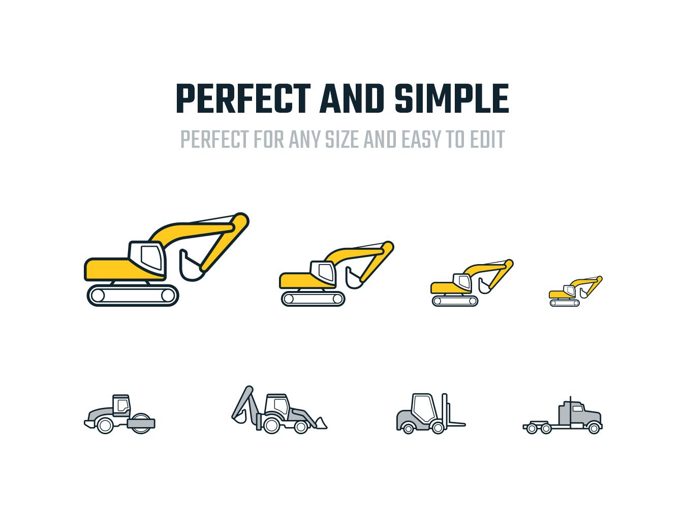专用特种机械矢量图标集 Special Machinery Icons插图1
