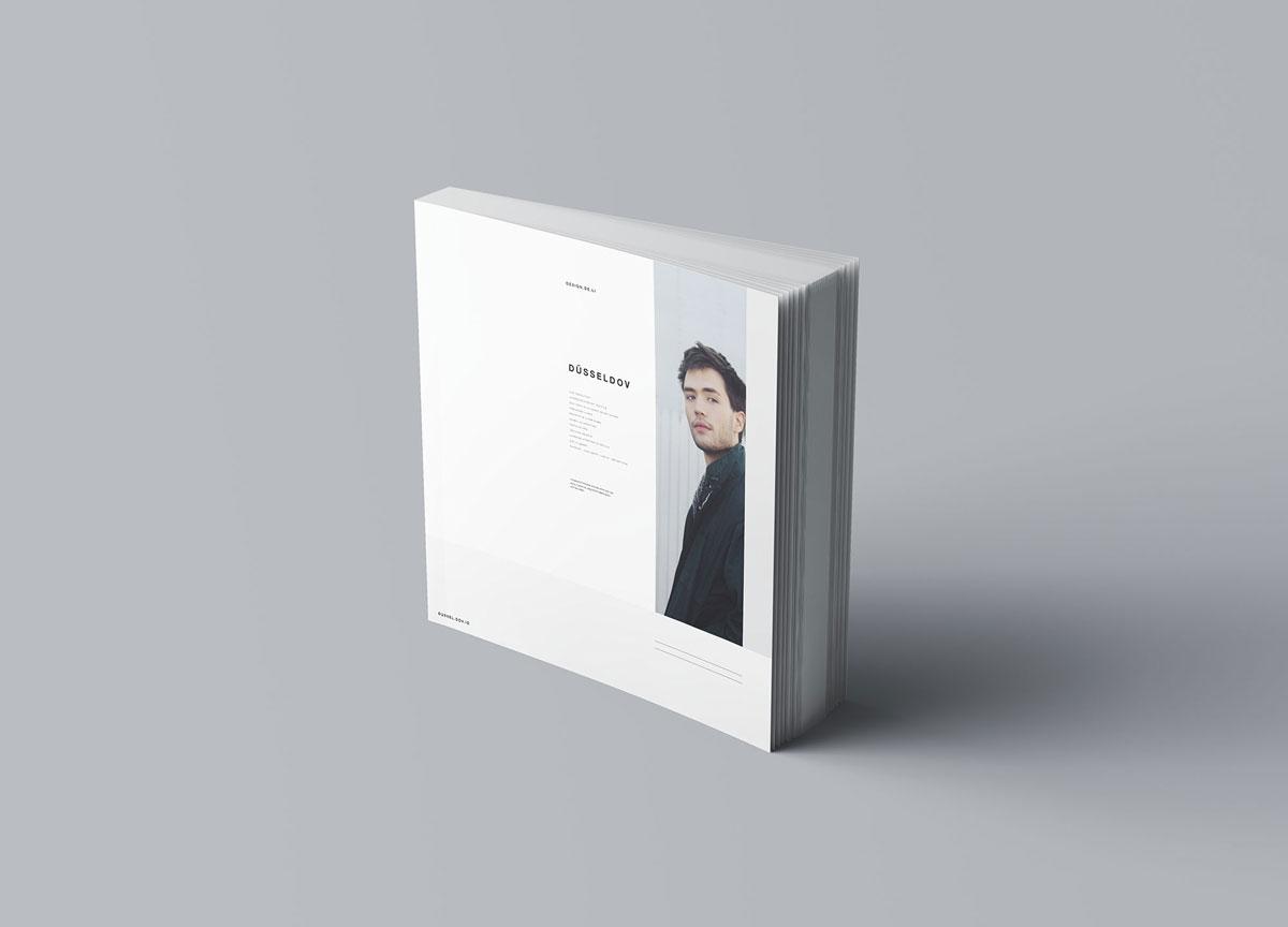 方形精装书画册封面设计预览效果样机模板 Square Softcover Book Mocku插图3