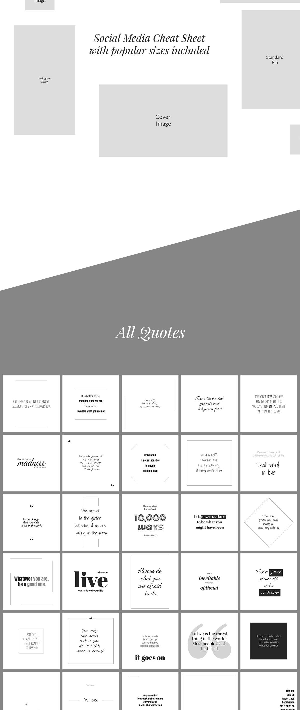 500个方形电商营销海报INS风PSD模板 500 Social Media Quotes插图(2)