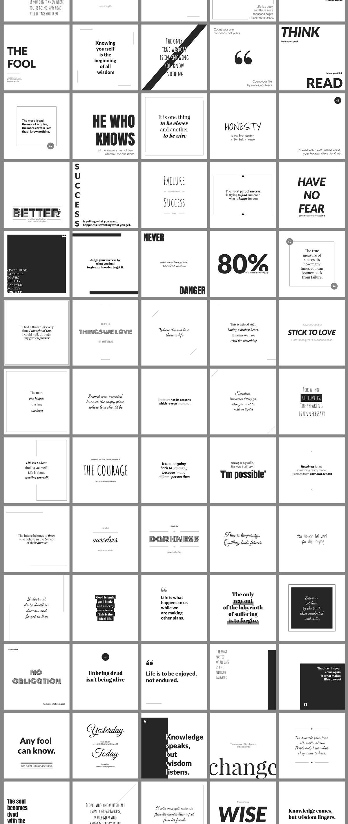 500个方形电商营销海报INS风PSD模板 500 Social Media Quotes插图(3)