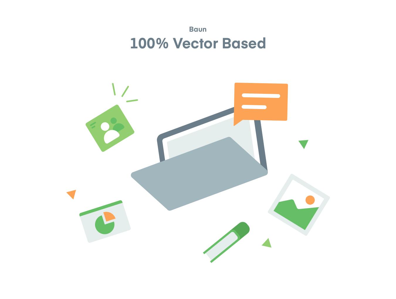 办公房屋电子设备矢量插图图标 Baun Easy Illustration插图2