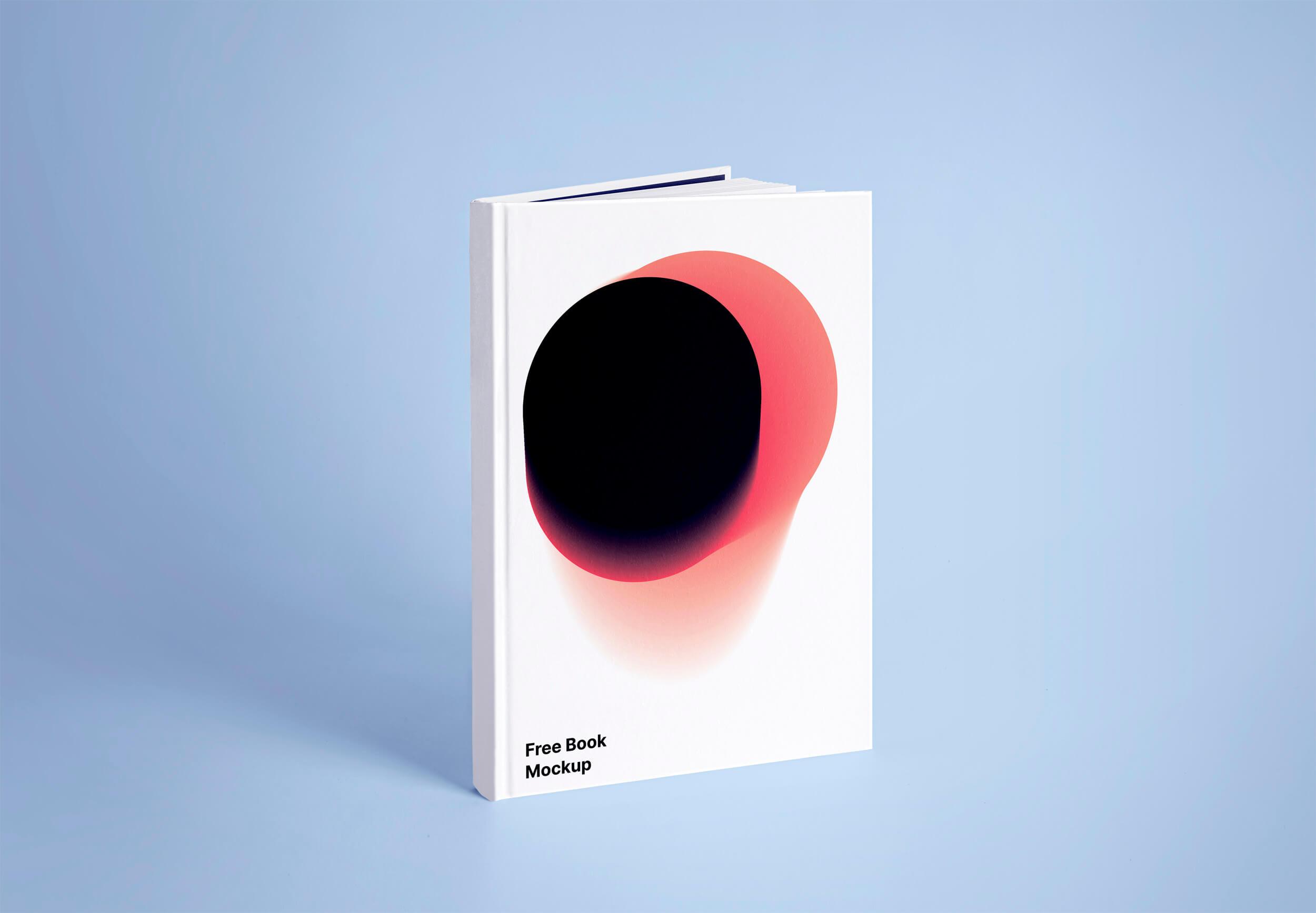 超真实精装书封面设计展示效果样机模板 Book Mockup插图
