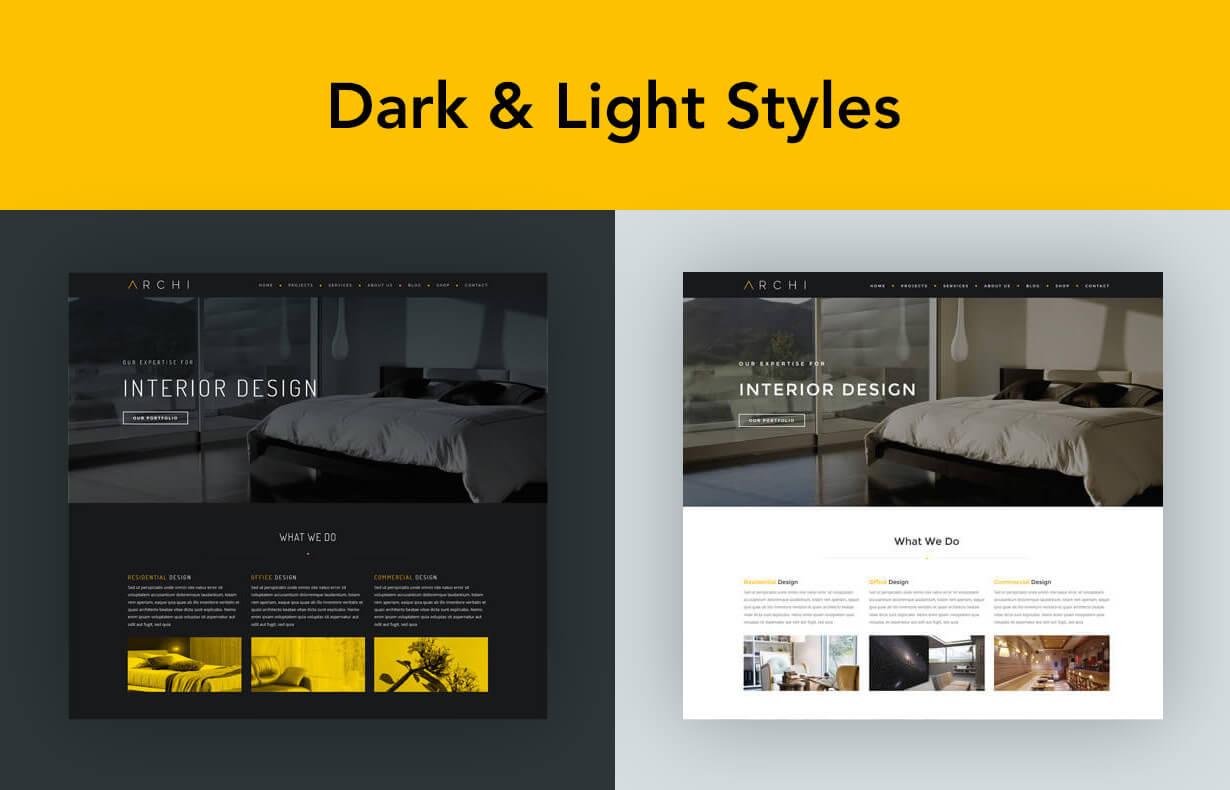 现代多用途室内设计风格WordPress主题模板 Archi – Interior Design WordPress Theme插图(3)
