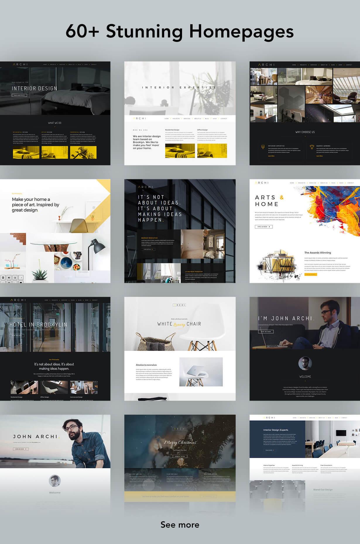 现代多用途室内设计风格WordPress主题模板 Archi – Interior Design WordPress Theme插图(6)