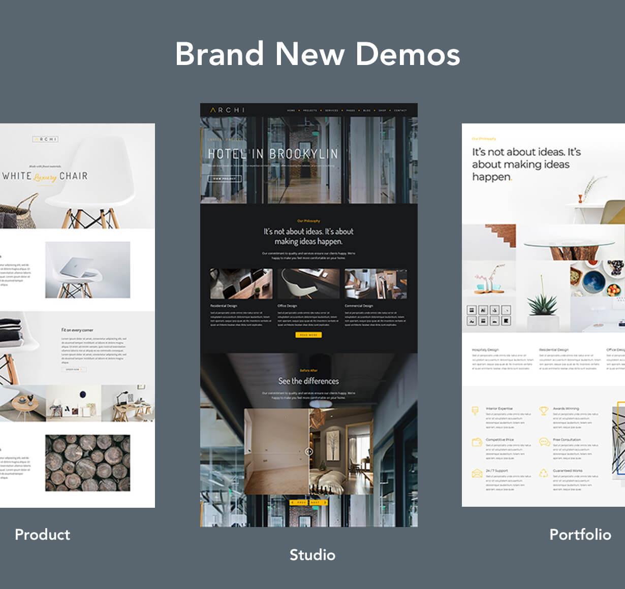 现代多用途室内设计风格WordPress主题模板 Archi – Interior Design WordPress Theme插图(4)