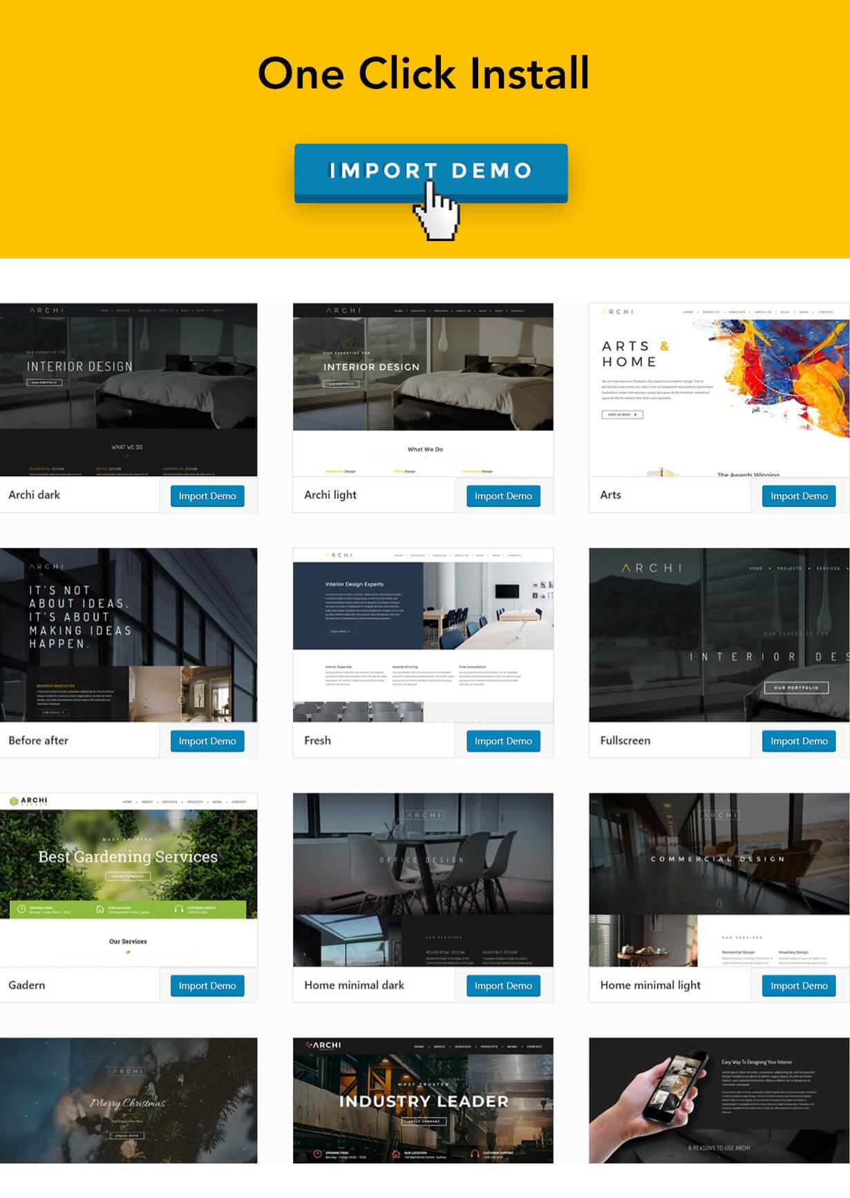 现代多用途室内设计风格WordPress主题模板 Archi – Interior Design WordPress Theme插图(9)