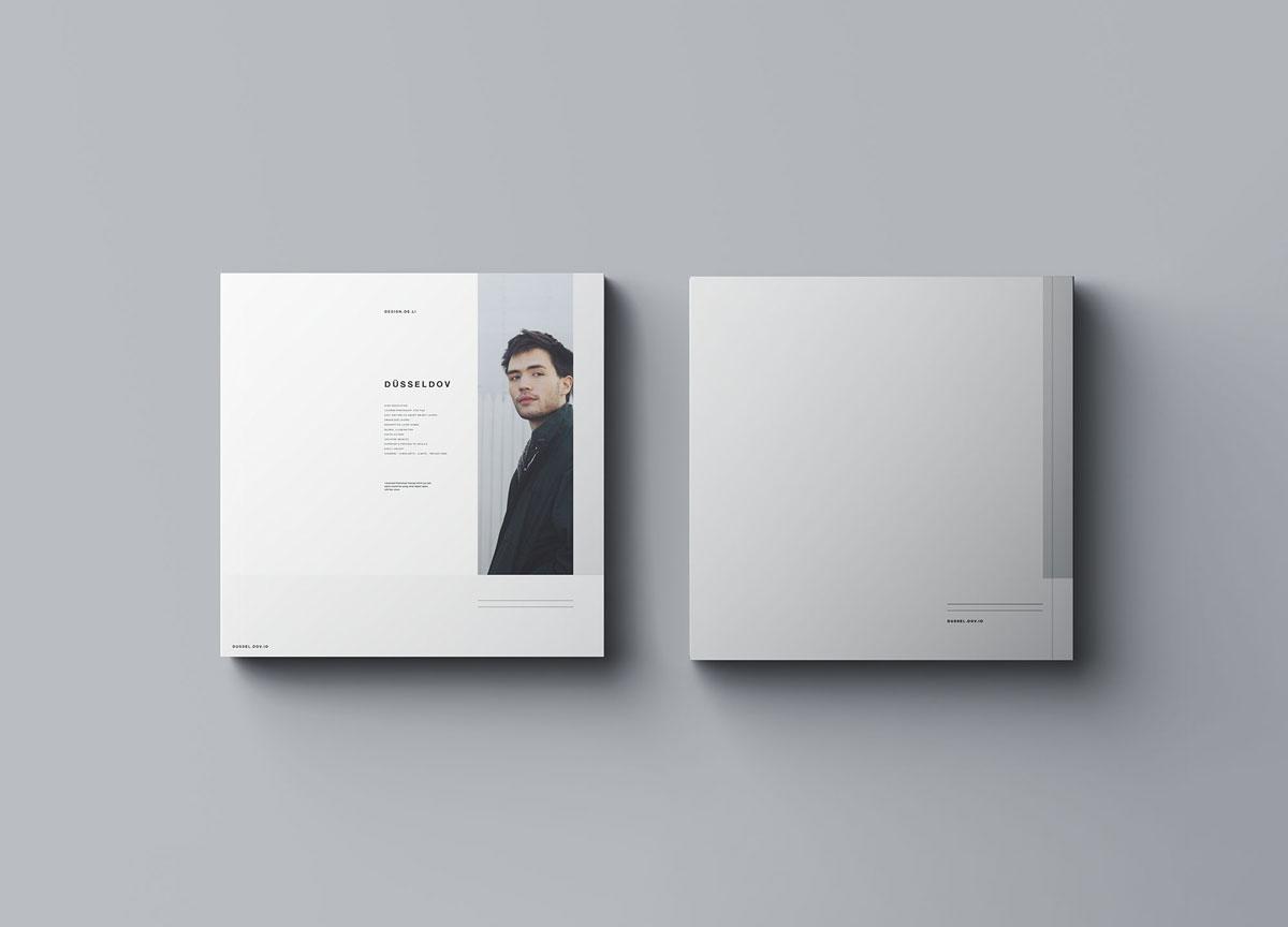 方形精装书画册封面设计预览效果样机模板 Square Softcover Book Mocku插图7