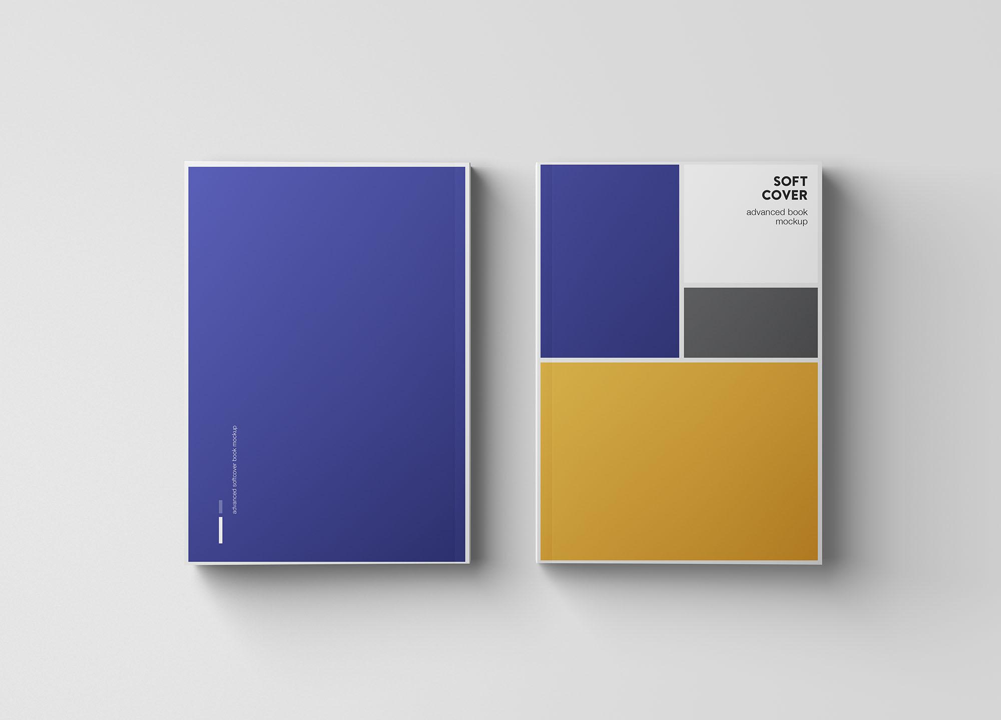 专业设计的A5平装书画册样机PSD模板 A5 Softcover Book Mockup插图(6)