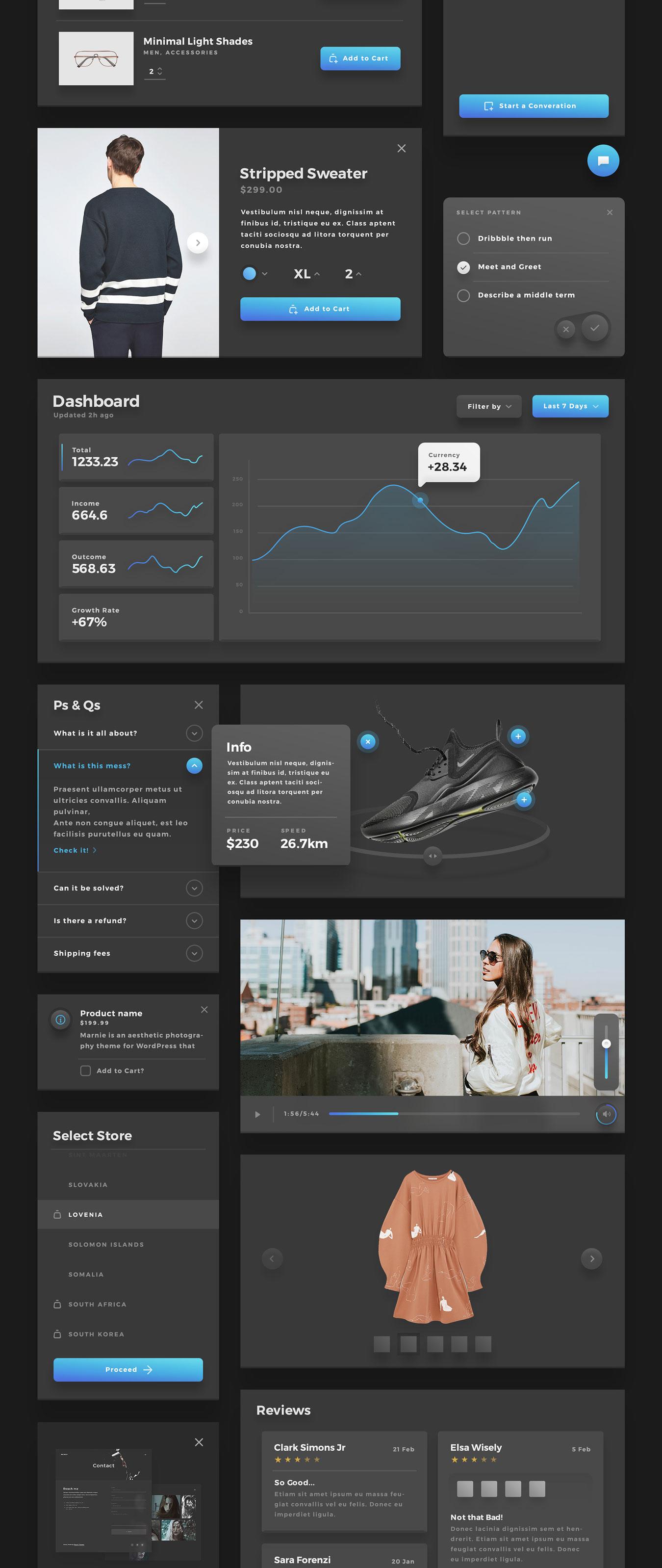精美的服装鞋子电子商务Web UI套件 Sierra – E-commerce Web UI Kit插图(9)